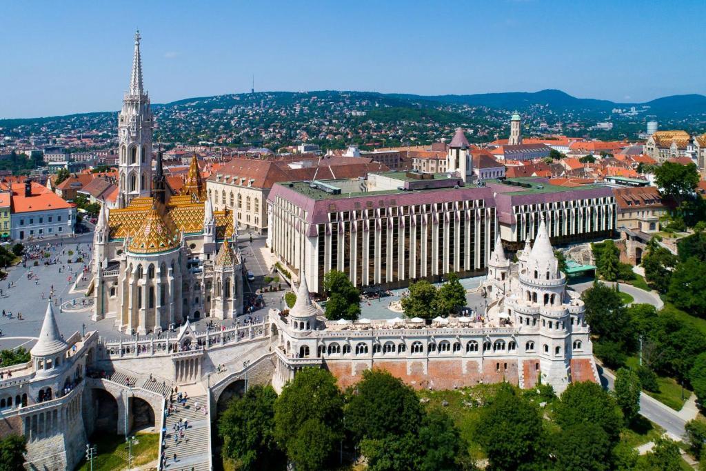 A bird's-eye view of Hilton Budapest