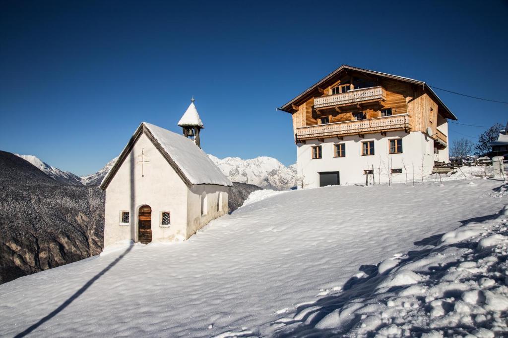 Ferienwohnung Hausegg during the winter