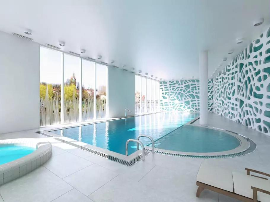 The swimming pool at or close to WaterLane Island Hostel&Apartments
