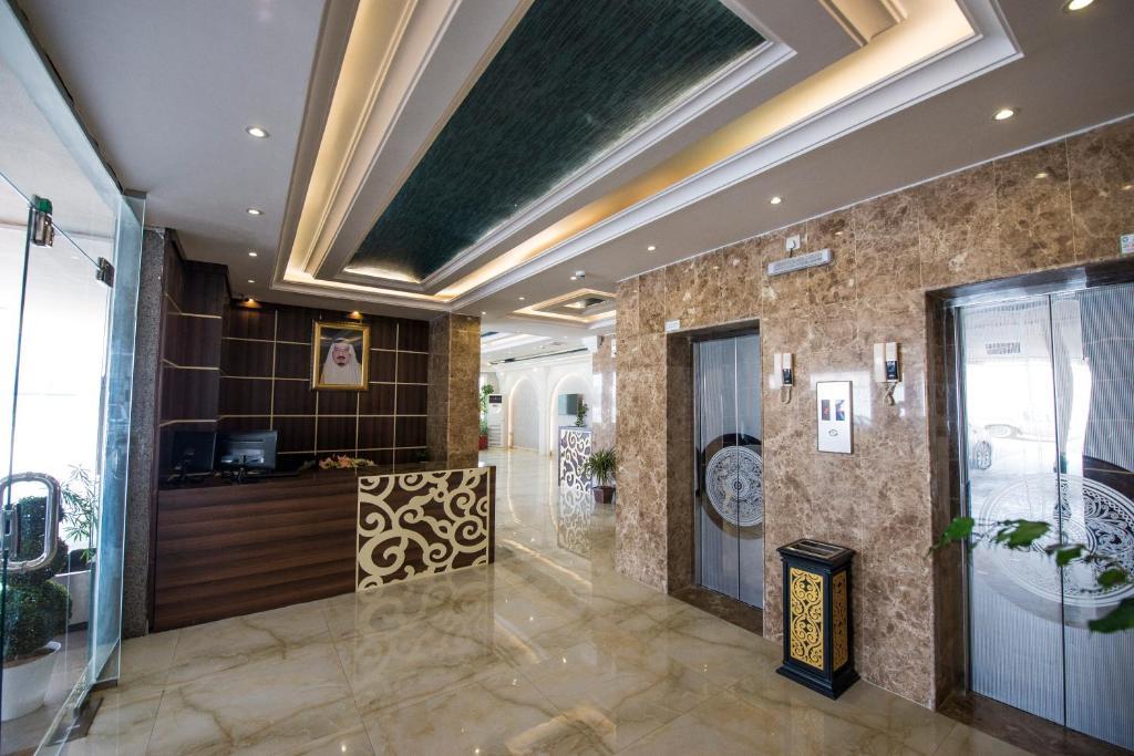 O saguão ou recepção de Al Nakhla Aparthotel