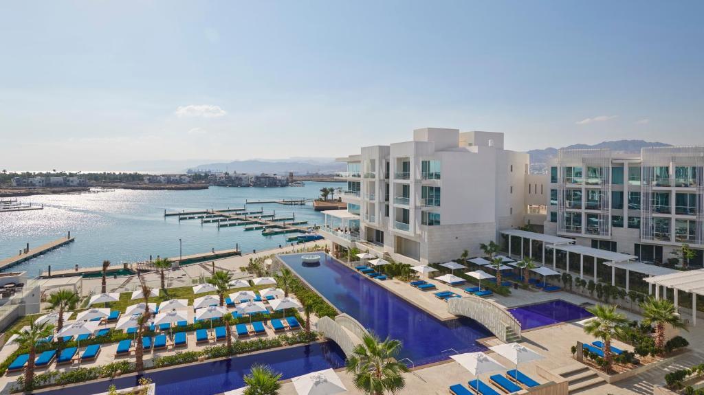 A view of the pool at Hyatt Regency Aqaba Ayla Resort or nearby