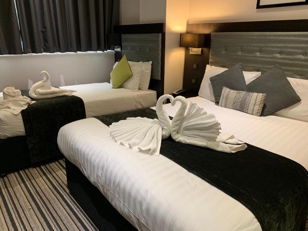 A room at The W14 Hotel.