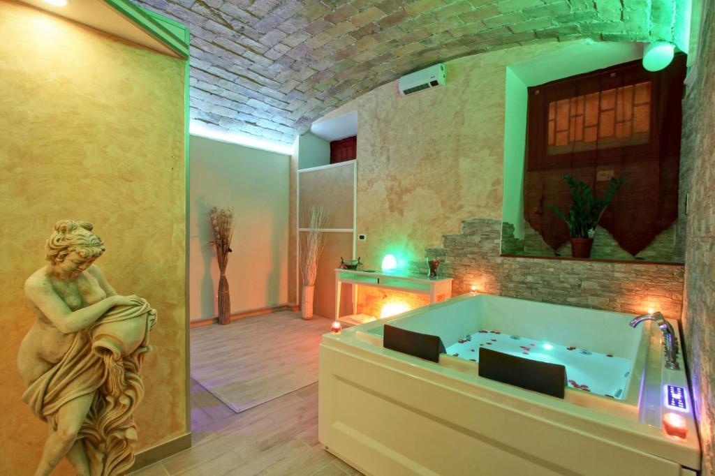 A bathroom at Hotel Il Villino
