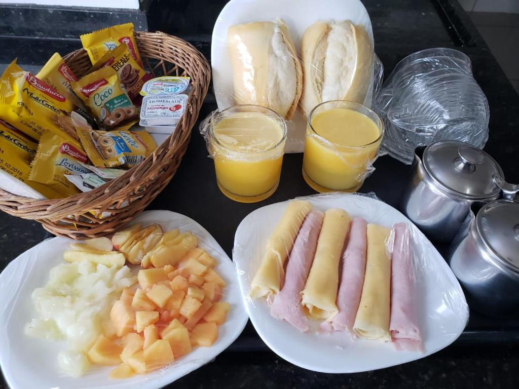 Breakfast options available to guests at Motel Mont Blanc Gru