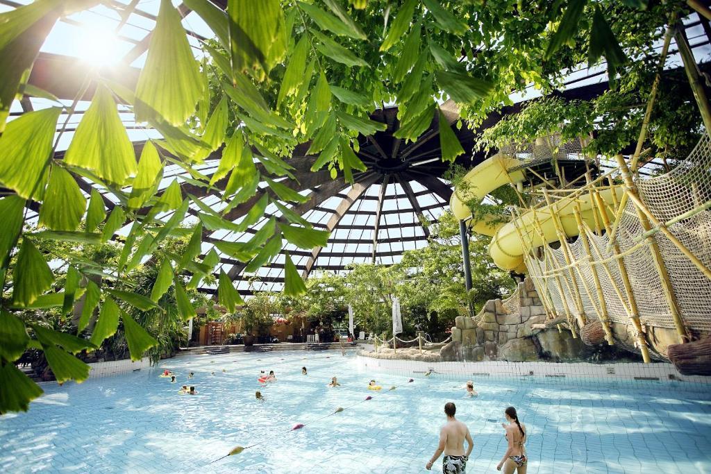 Het zwembad bij of vlak bij Center Parcs Huttenheugte Drenthe-Overijssel