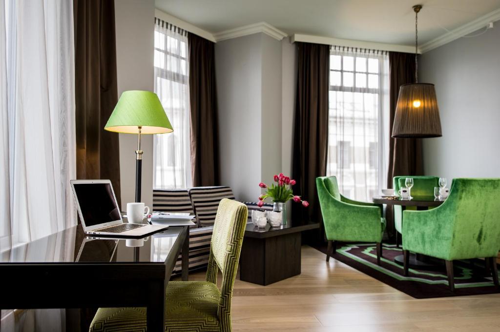 Ein Sitzbereich in der Unterkunft Frogner House Apartments - Skovveien 8