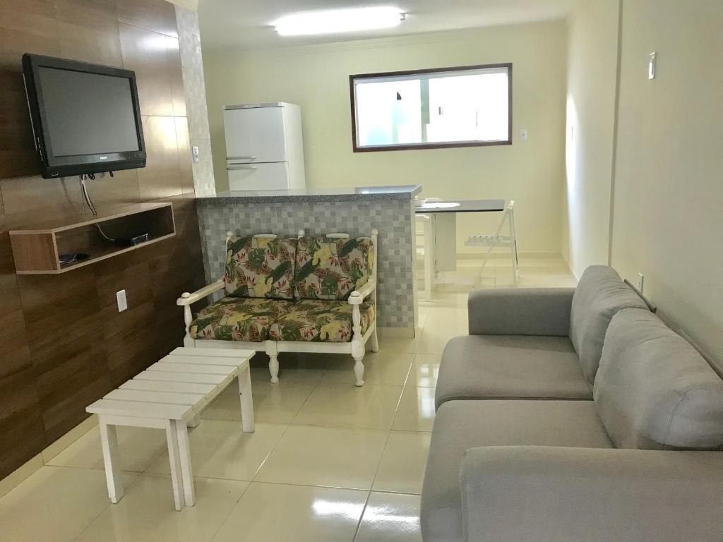 A seating area at Casa Bem Estar Palestina