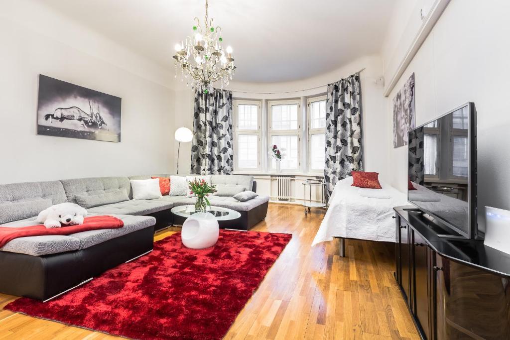 Oleskelutila majoituspaikassa Go Happy Home Apartments