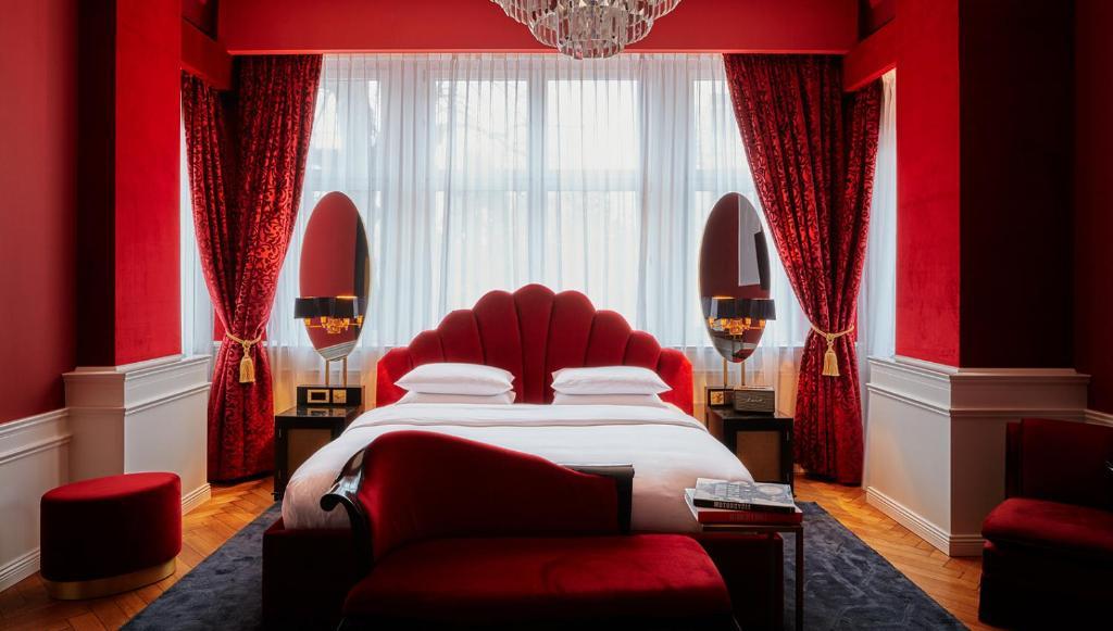 Ein Bett oder Betten in einem Zimmer der Unterkunft Provocateur Berlin