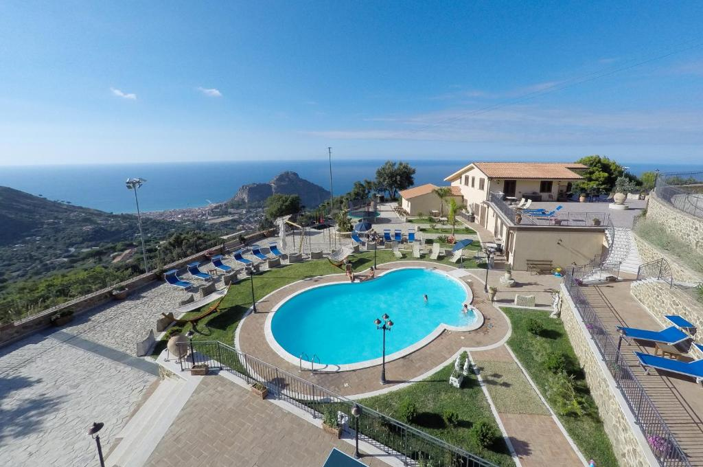 A view of the pool at Sikelios Apartments or nearby