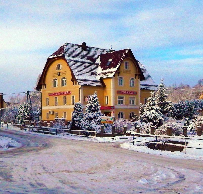 Obiekt Pensjonat Gerus zimą