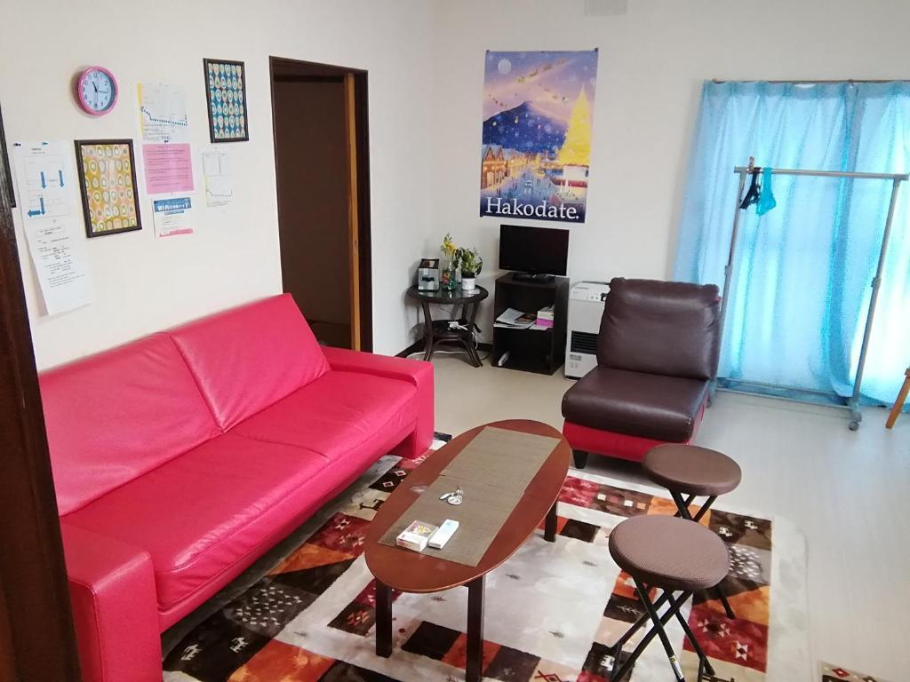 A seating area at Corpo Marika A