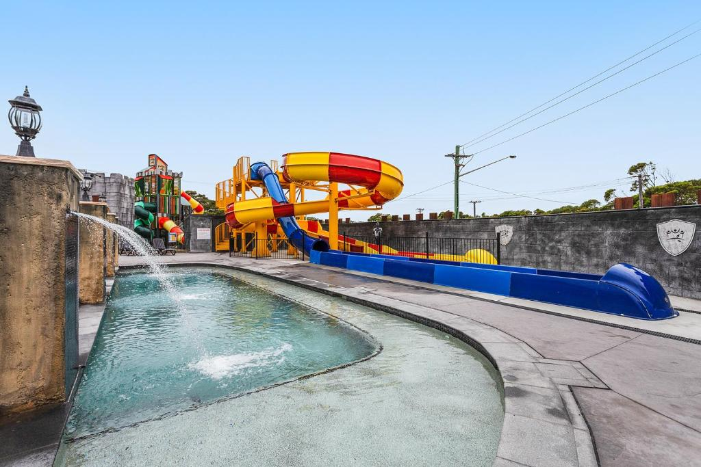Water park at the resort village or nearby