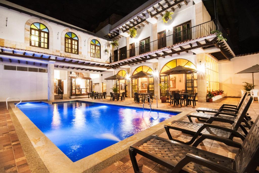 The swimming pool at or near Hotel Casa Moreno La Vega