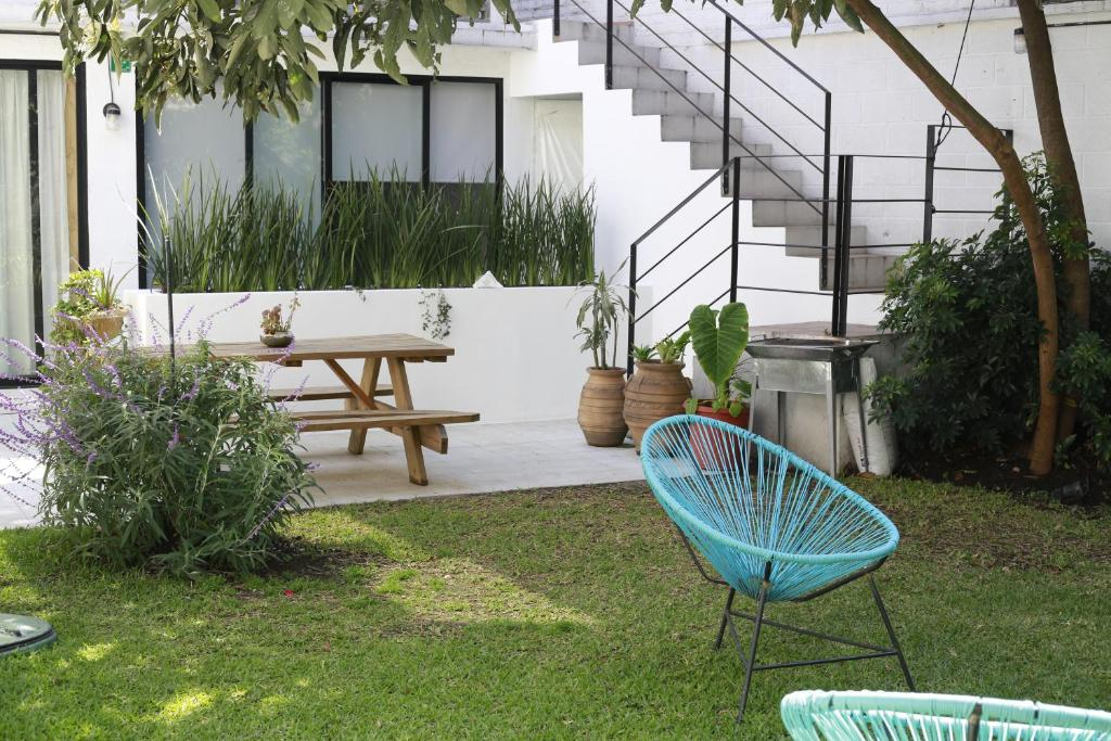 A patio or other outdoor area at Coyoacan City Lofts