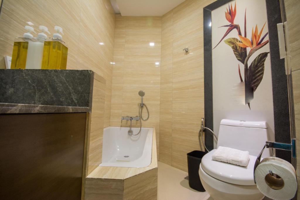 A bathroom at Boracay Haven Suites