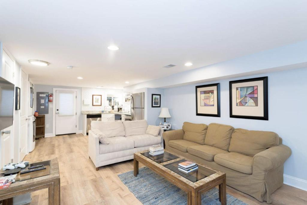 A seating area at Sunny Apartment w/ Free Parking!