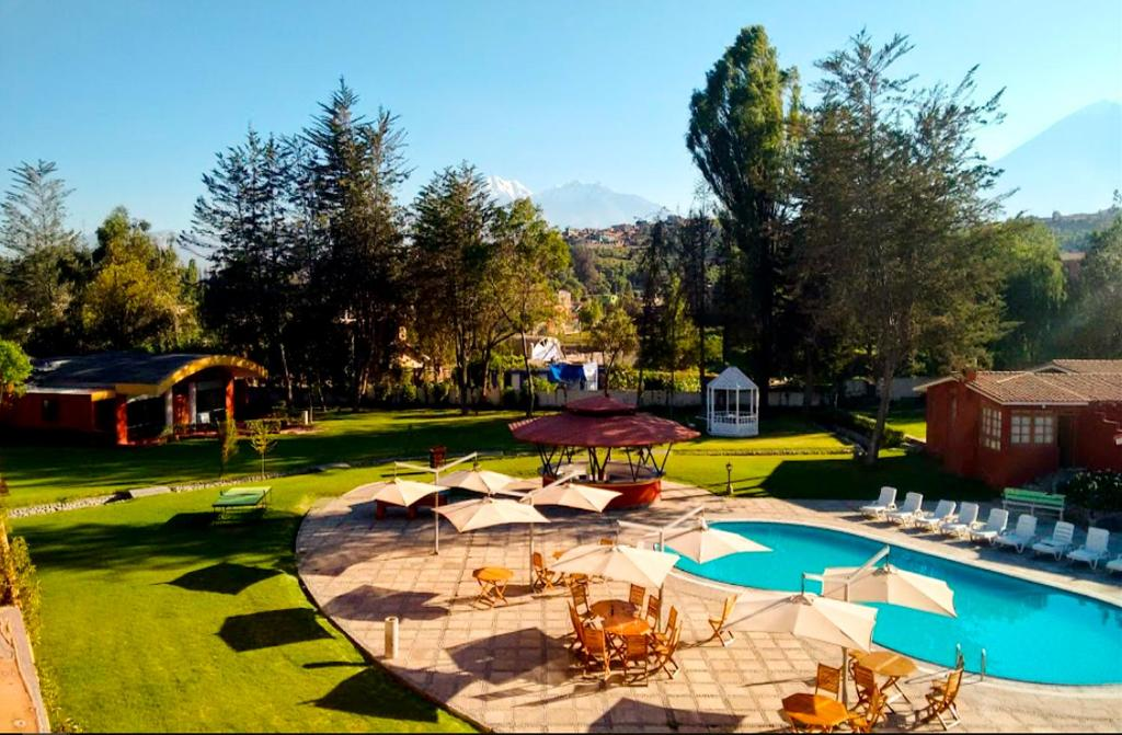 The swimming pool at or near BTH Hotel Arequipa Lake