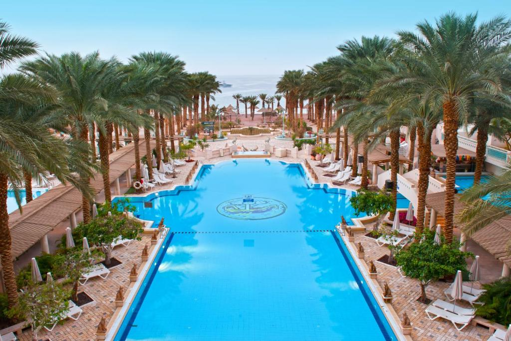 A view of the pool at Herods Palace Hotels & Spa Eilat a Premium collection by Fattal Hotels or nearby