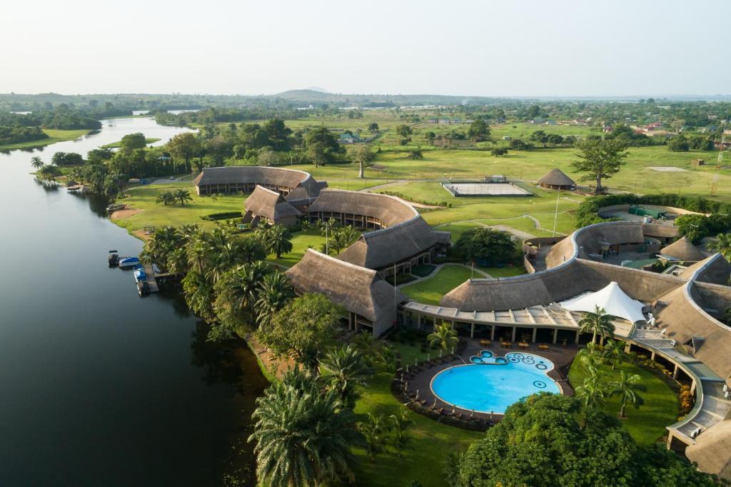 A bird's-eye view of The Royal Senchi Resort Hotel