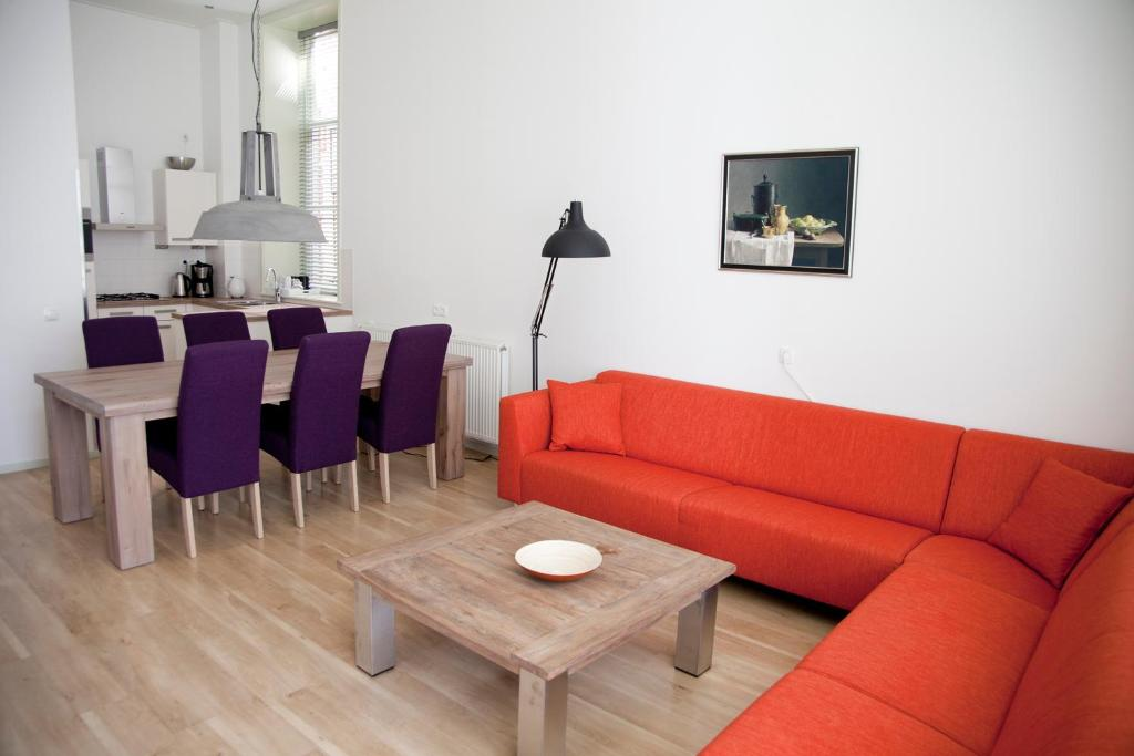 A seating area at Gelkingehof Apartments