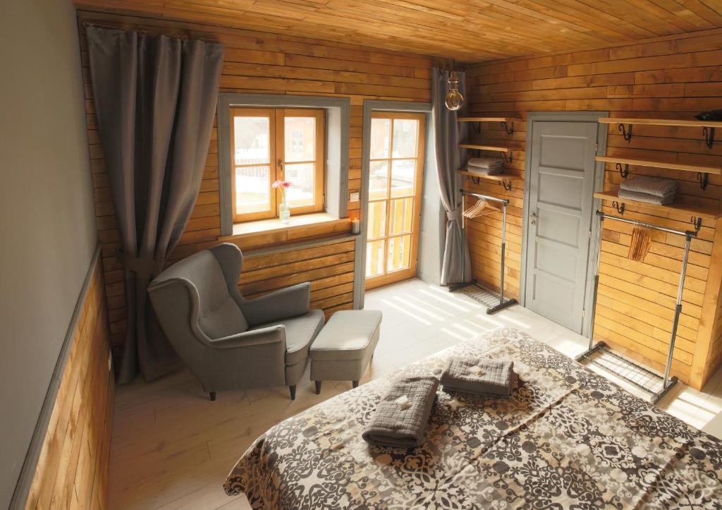 A seating area at Liptov Lodge