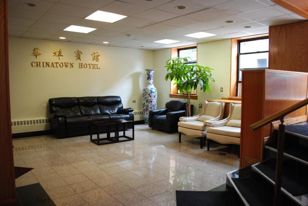 The lobby or reception area at Chinatown Hotel Chicago