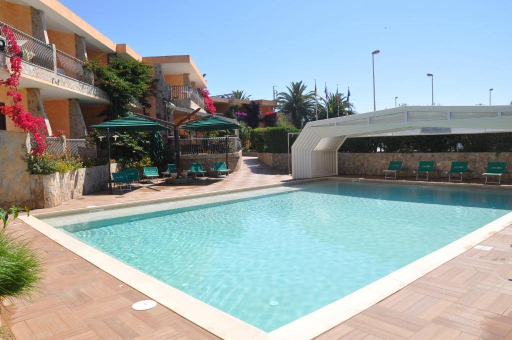 The swimming pool at or near Palm Village