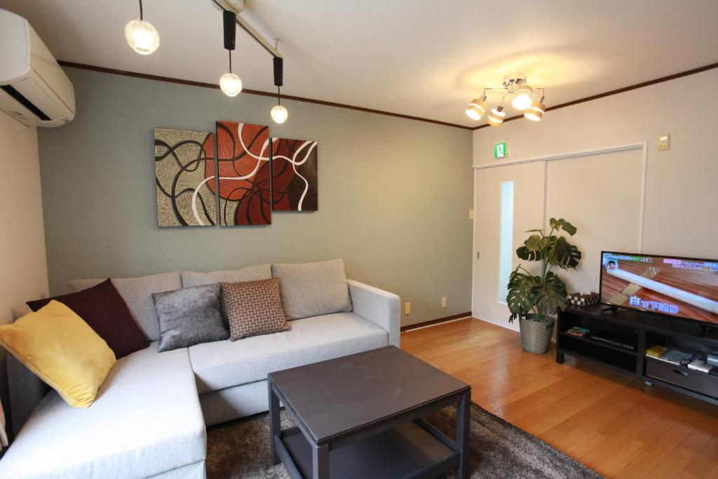 A seating area at Samys Guest House Noda