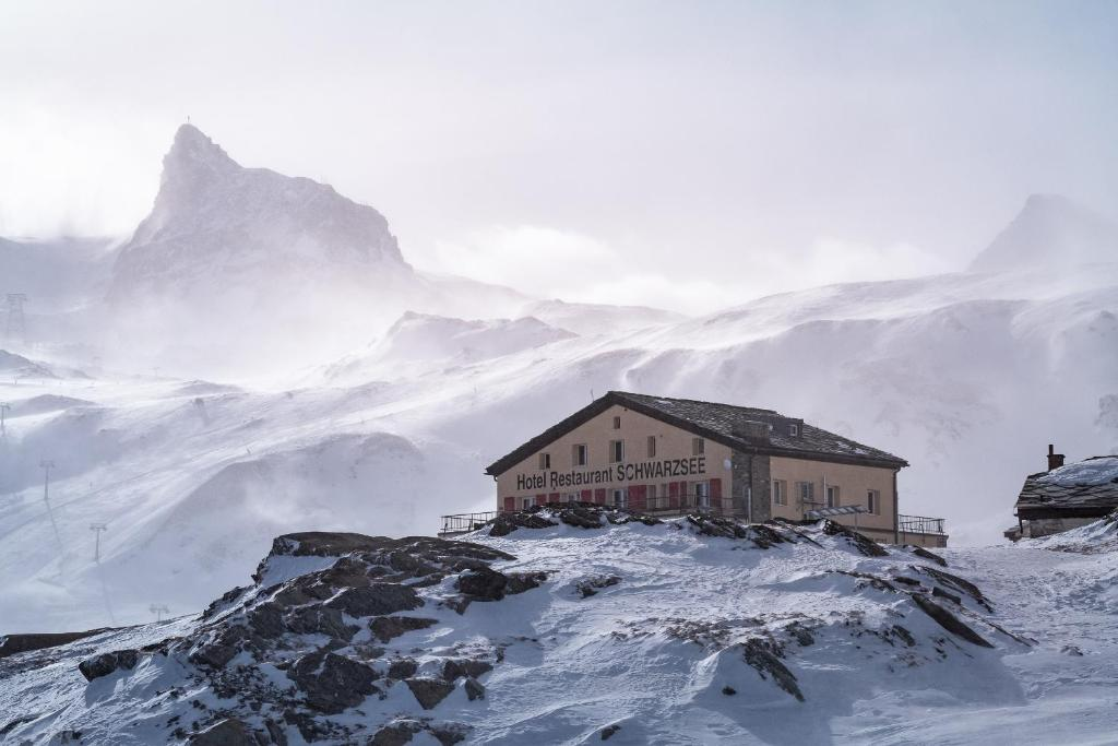 Hotel Schwarzsee during the winter