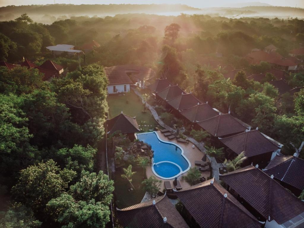 A bird's-eye view of Mamamia Island Villa
