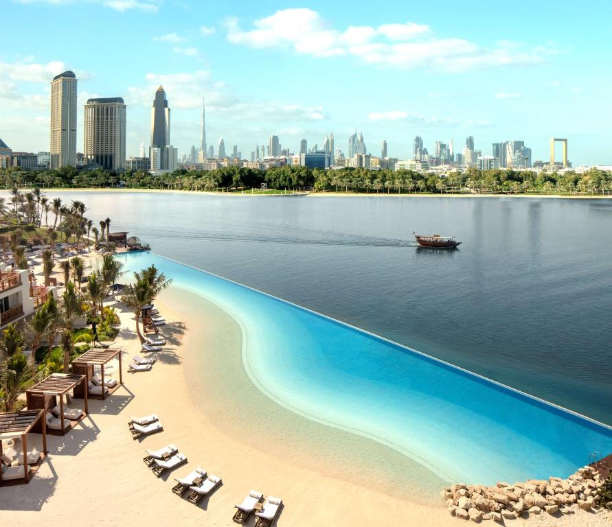 A view of the pool at Park Hyatt Dubai or nearby