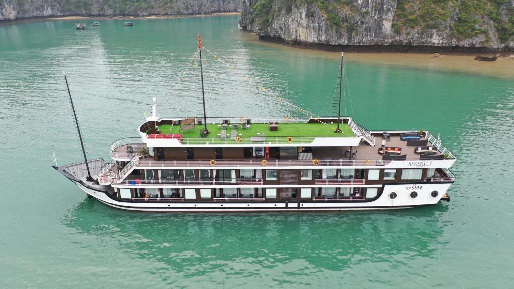 A bird's-eye view of Halong Serenity Cruises