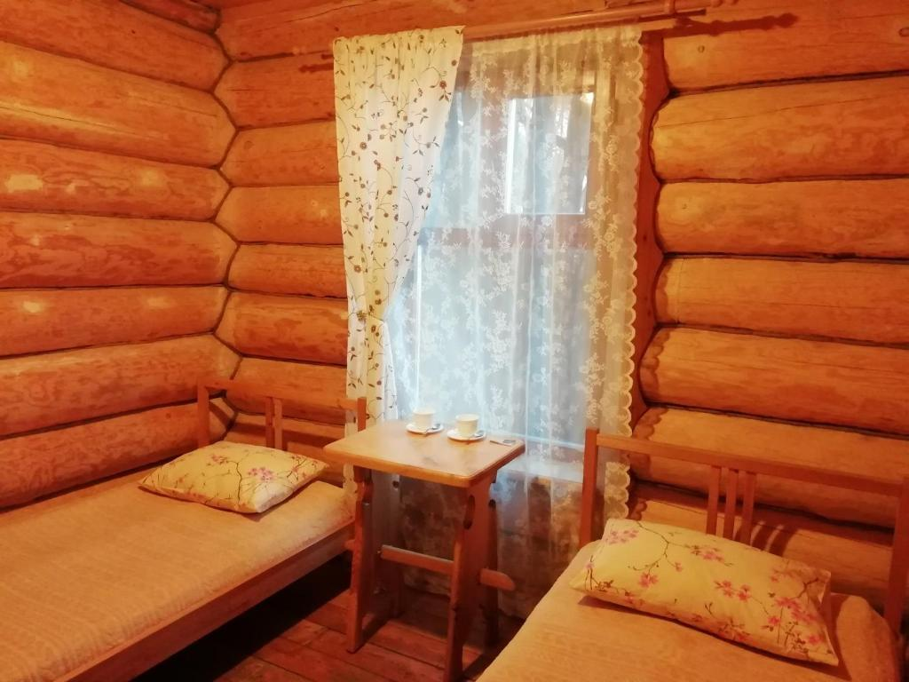 A seating area at Guesthouse U Batushki