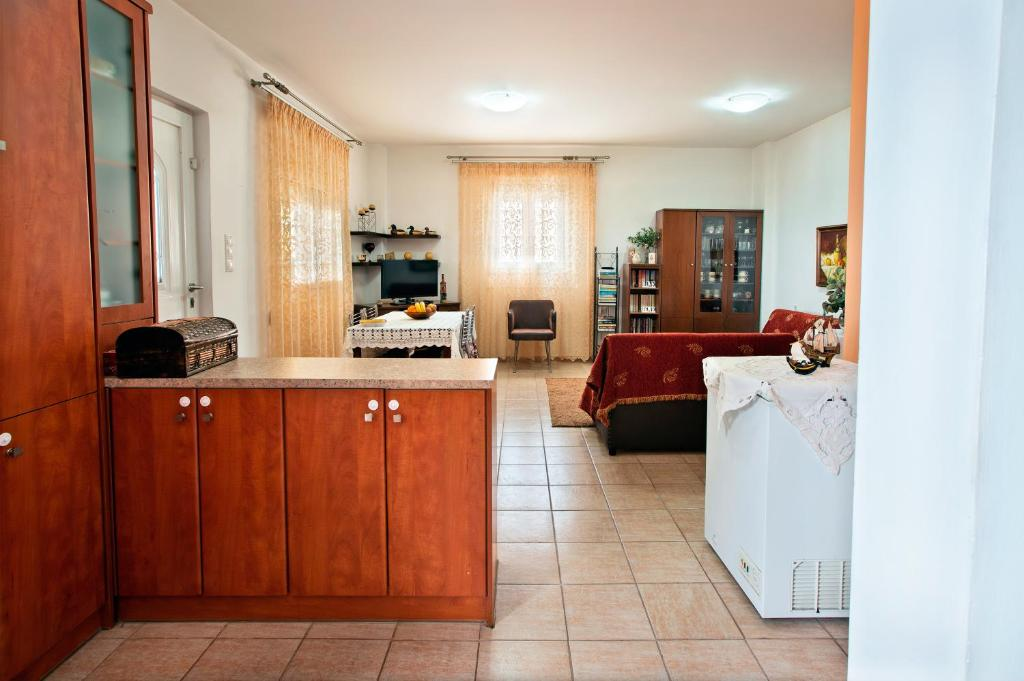 A kitchen or kitchenette at Mediterranean Apartment by the Sea
