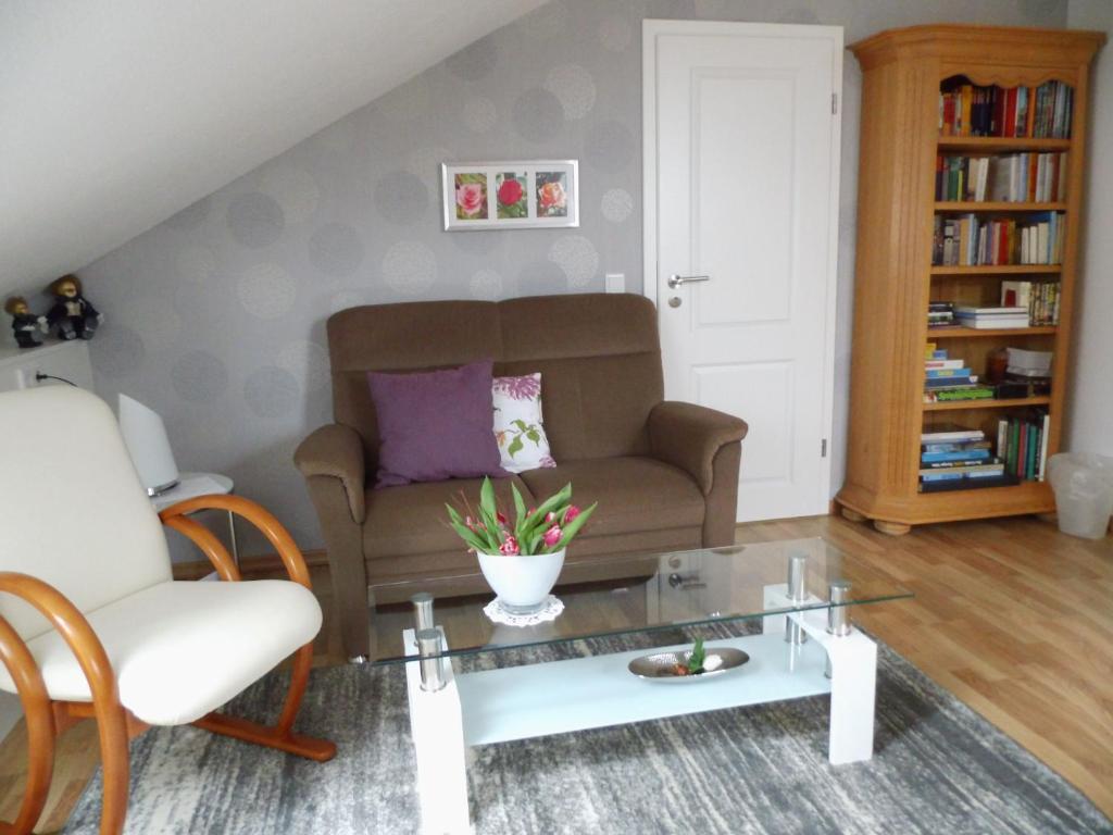 A seating area at Ferienwohnung und -Zimmer Becks