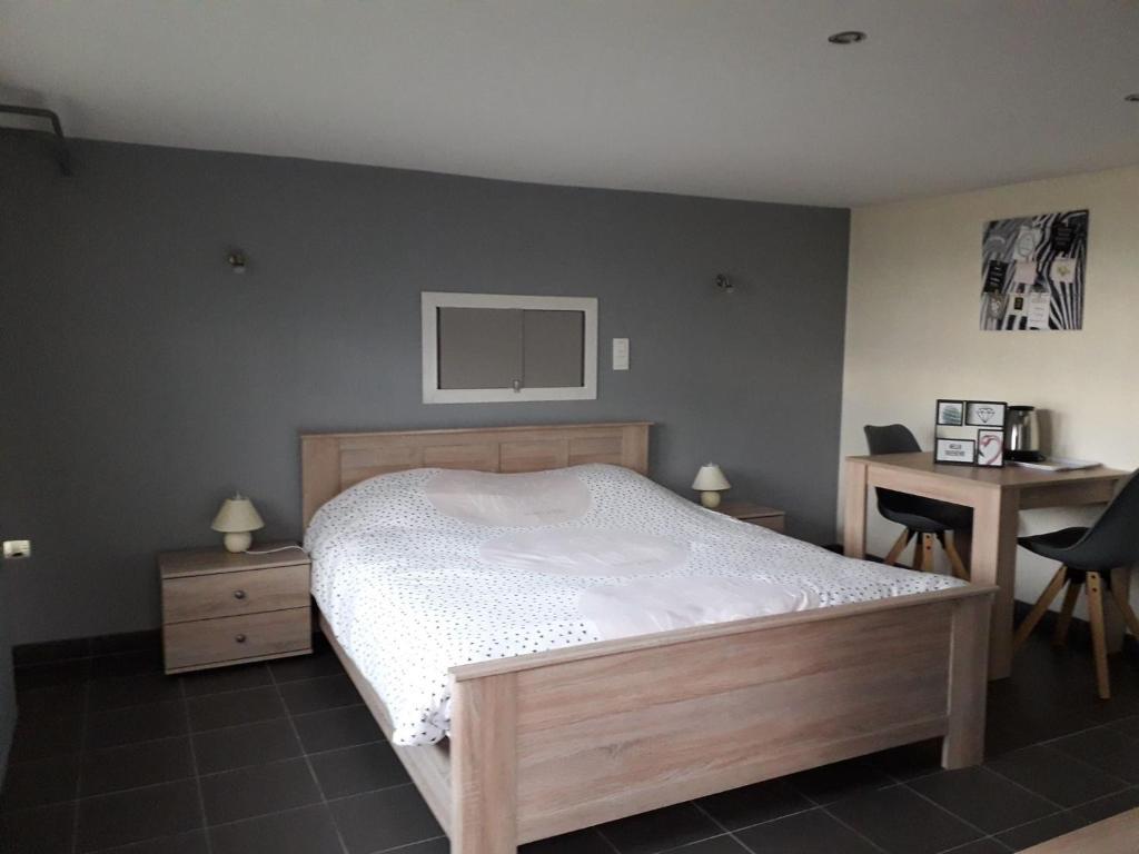 Un ou plusieurs lits dans un hébergement de l'établissement A La Reid Paisible