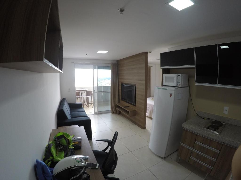 A kitchen or kitchenette at Flat no Brookfield Towers