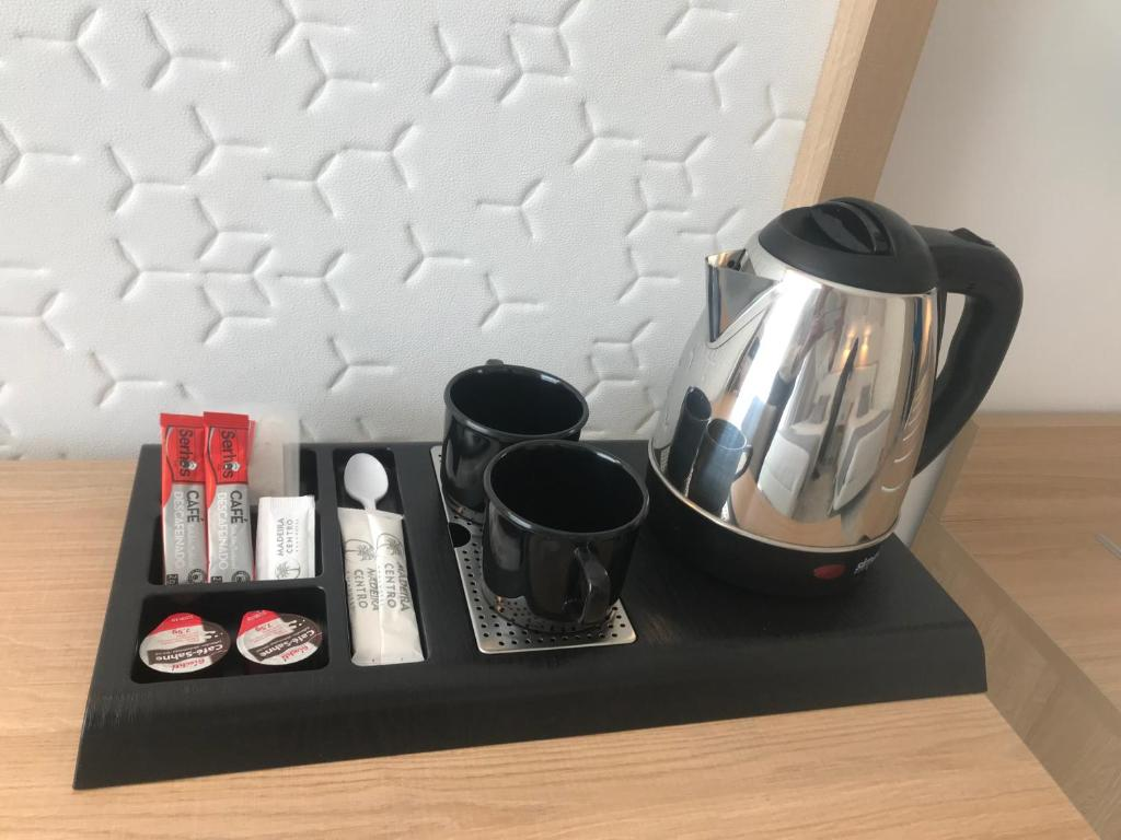 Coffee and tea-making facilities at Hotel Madeira Centro