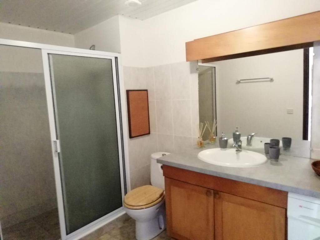 Um banheiro em Tahiti - Le Condo Ariitea