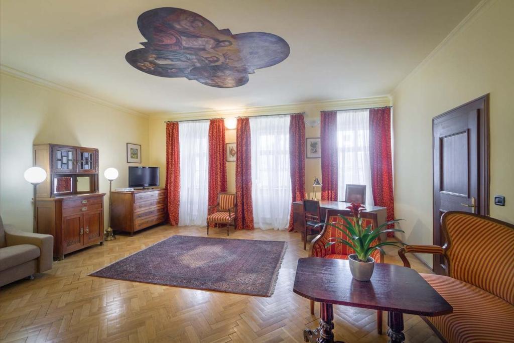 Posezení v ubytování St. Thomas apartment