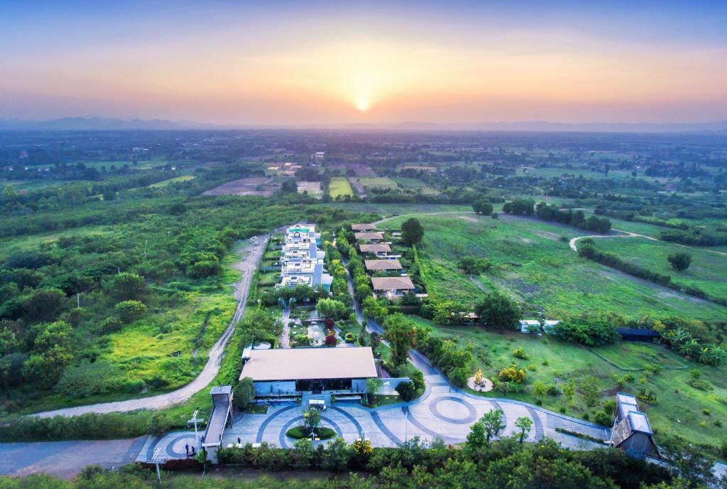 A bird's-eye view of The Private Pool Villas at Civilai Hill Khao Yai