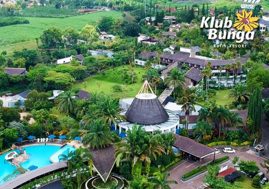 A bird's-eye view of Klub Bunga Butik Resort
