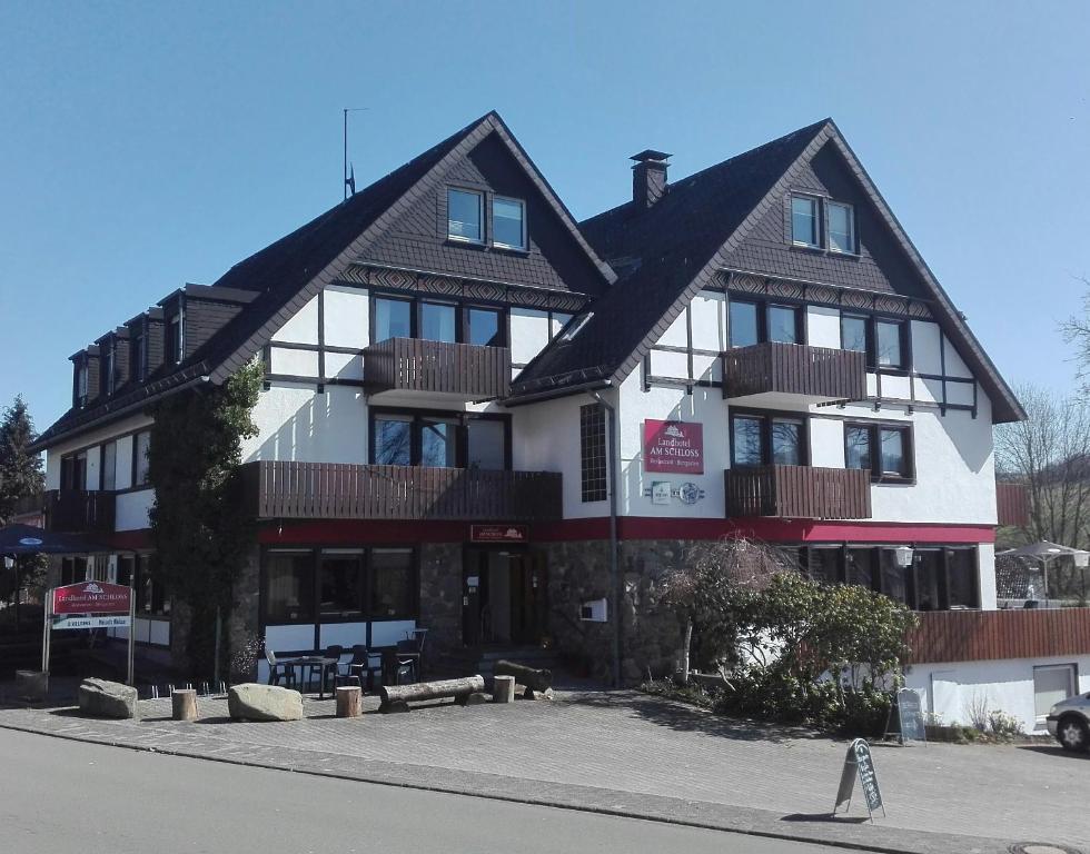 Landhotel am Schloss during the winter