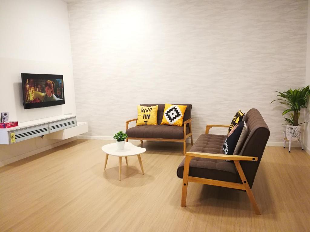 Ruang duduk di Seaview Luxury Studio @ Butterworth, Penang