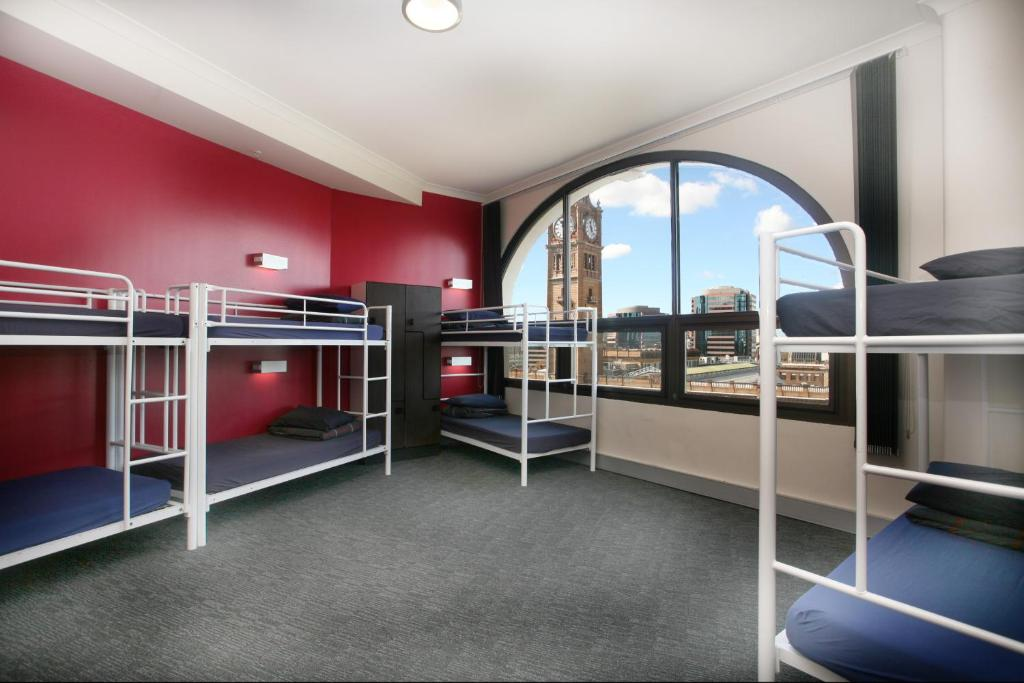 A bunk bed or bunk beds in a room at Wake Up! Sydney Central