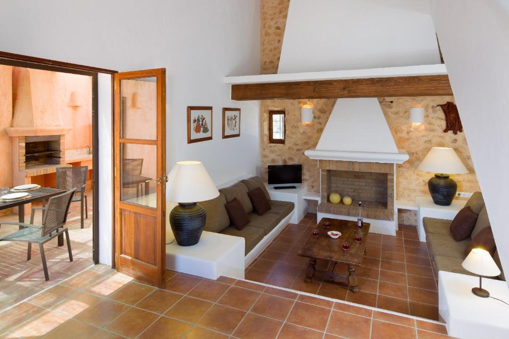 Coin salon dans l'établissement CAN NOVES - Villas de 4 suites (52)
