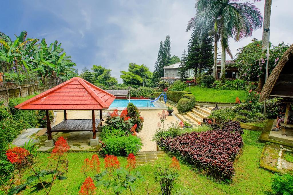 A garden outside Terrace Villa Golf