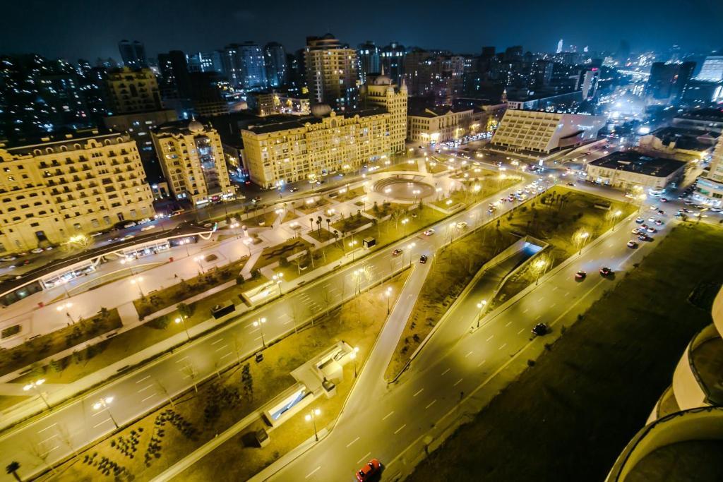 Uma vista aérea de Apartment Near The 28Mall