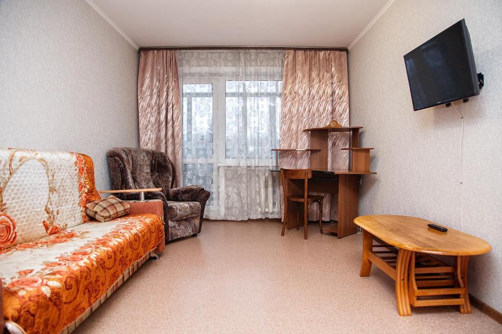 Гостиная зона в Apartments at Michurina 15